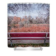 Sit With Me Shower Curtain