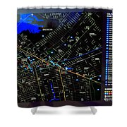 Sites And Subways Shower Curtain