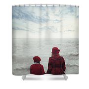 Sitting At The Sea Shower Curtain