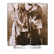 Sitting Bull And Buffalo Bill Shower Curtain