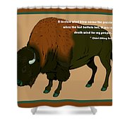 Sitting Bull Buffalo Shower Curtain