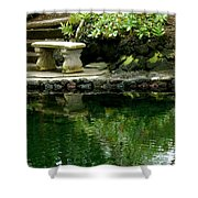 Sitting By The Pond Shower Curtain