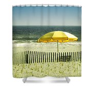 Sitting By The Shore Shower Curtain