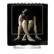 Sitting In The Box 1058.01 Shower Curtain