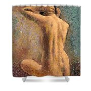 Sitting Nude 3 Shower Curtain
