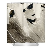 Sitting Together-duotone Shower Curtain