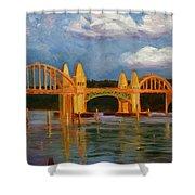 Siuslaw River Bridge Shower Curtain