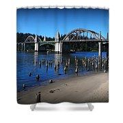 Siuslaw River Bridge Oregon Shower Curtain