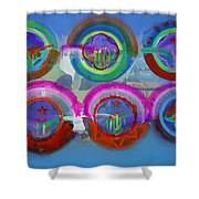 Six American Spring Icons Shower Curtain