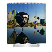 Six On The Pond Shower Curtain