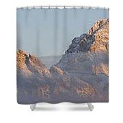 Six Peaks Of The Teton Mountain Range Shower Curtain