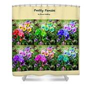 Six Pretty Pansies Shower Curtain
