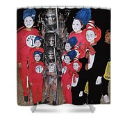 Six Things Halloween Party Collage Casa Grande Arizona 2005-2012 Shower Curtain