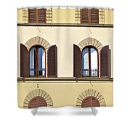 Six Windows Of Florence Shower Curtain