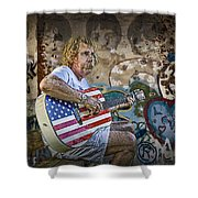 Sixties Refugee Shower Curtain