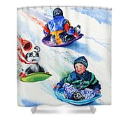 Sizzling Saucers Shower Curtain