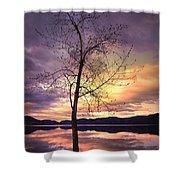 Skaha Lake On A Saturday Morning Shower Curtain