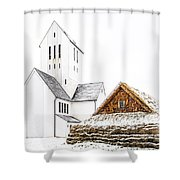 Skalholt Church Shower Curtain