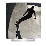 Skateboard Shadow - D001936 Shower Curtain
