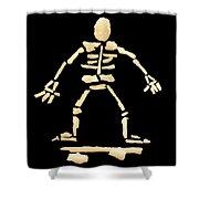 Skateboard Skeleton Shower Curtain