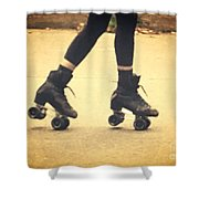 Skates In Motion Shower Curtain