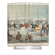 Skating In Central Park. New York Shower Curtain