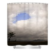Skc 1717 Blue Opening Shower Curtain