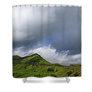 Skc 3548 Over The Western Ghats Shower Curtain