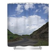 Skc 3557 Drive Up The Mountain Shower Curtain