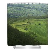 Skc 3566 The Gamut Of Green Shower Curtain