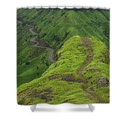 Skc 3577 Path Passing Shower Curtain