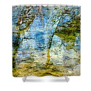 Skeletal Abstract Shower Curtain