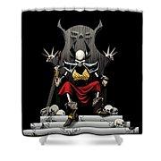 Skeletal Noble Shower Curtain