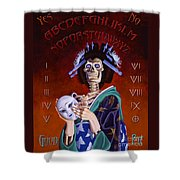 Skeleton Geisha Ouija Board Shower Curtain
