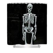 Skeleton New York City Shower Curtain