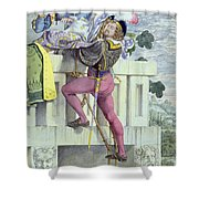 Sketch For The Passions Love Shower Curtain by Richard Dadd