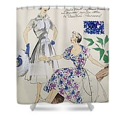 Sketches And Fabric Swatches Shower Curtain