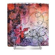Sketchflowers - Calendula Shower Curtain