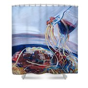 Sketti Shower Curtain by Donna Tuten