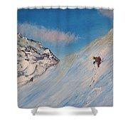 Ski Alaska Heli Ski Shower Curtain