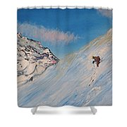Ski Alaska Heli Ski Shower Curtain