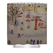 Ski Area Shower Curtain