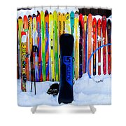 Adventure Ski Shower Curtain
