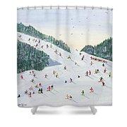 Ski Vening Shower Curtain