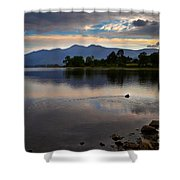 Skiddaw And Derwent Water At Dawn Shower Curtain