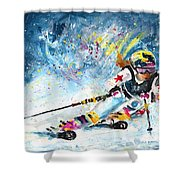 Skiing 03 Shower Curtain