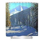 Skiing  Beauregard La Clusaz Shower Curtain