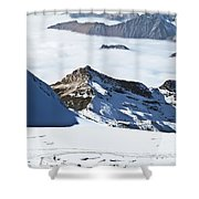 Skiing Down A Storm Shower Curtain