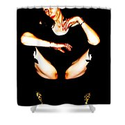 Skin And Leopardskin Shower Curtain
