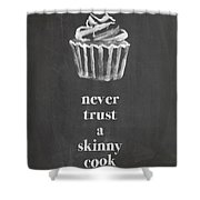 Skinny Cook Shower Curtain by Nancy Ingersoll